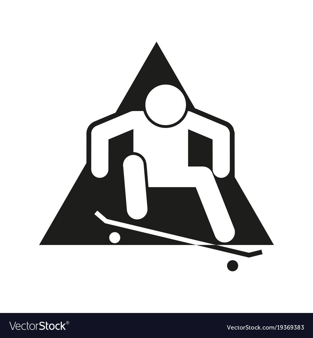 Skateboard Ollie Block Sport Outline Figure Symbol