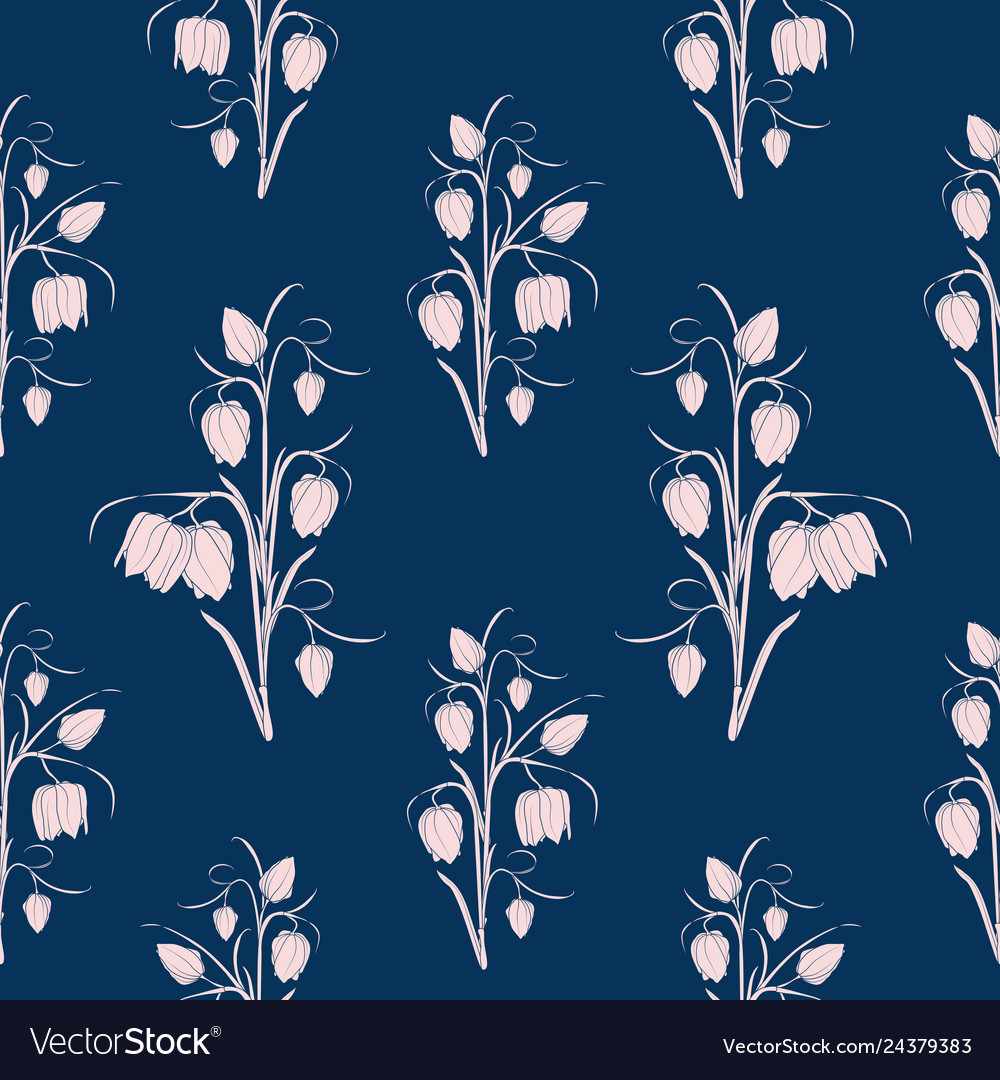 Spring floral seamless pattern tulip flowers
