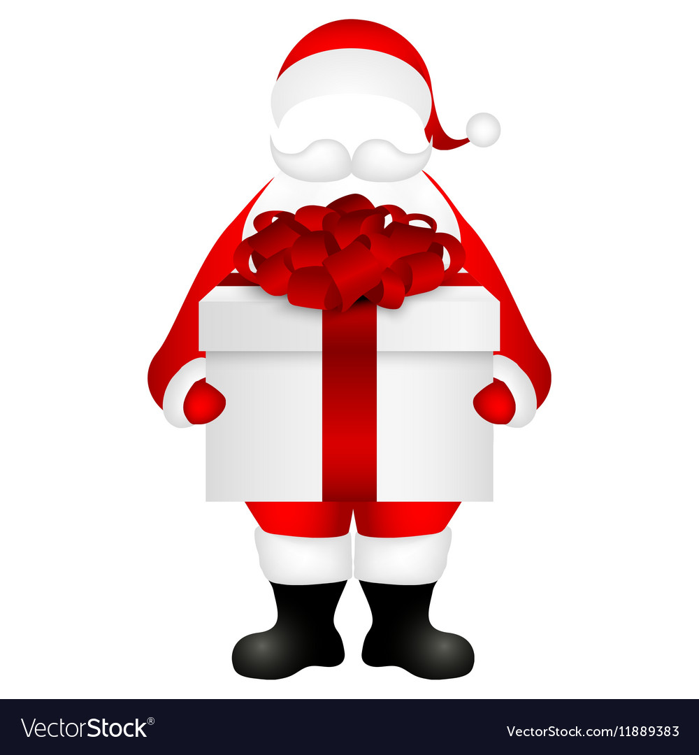 Template Santa Claus To Insert A Human Face Vector Image