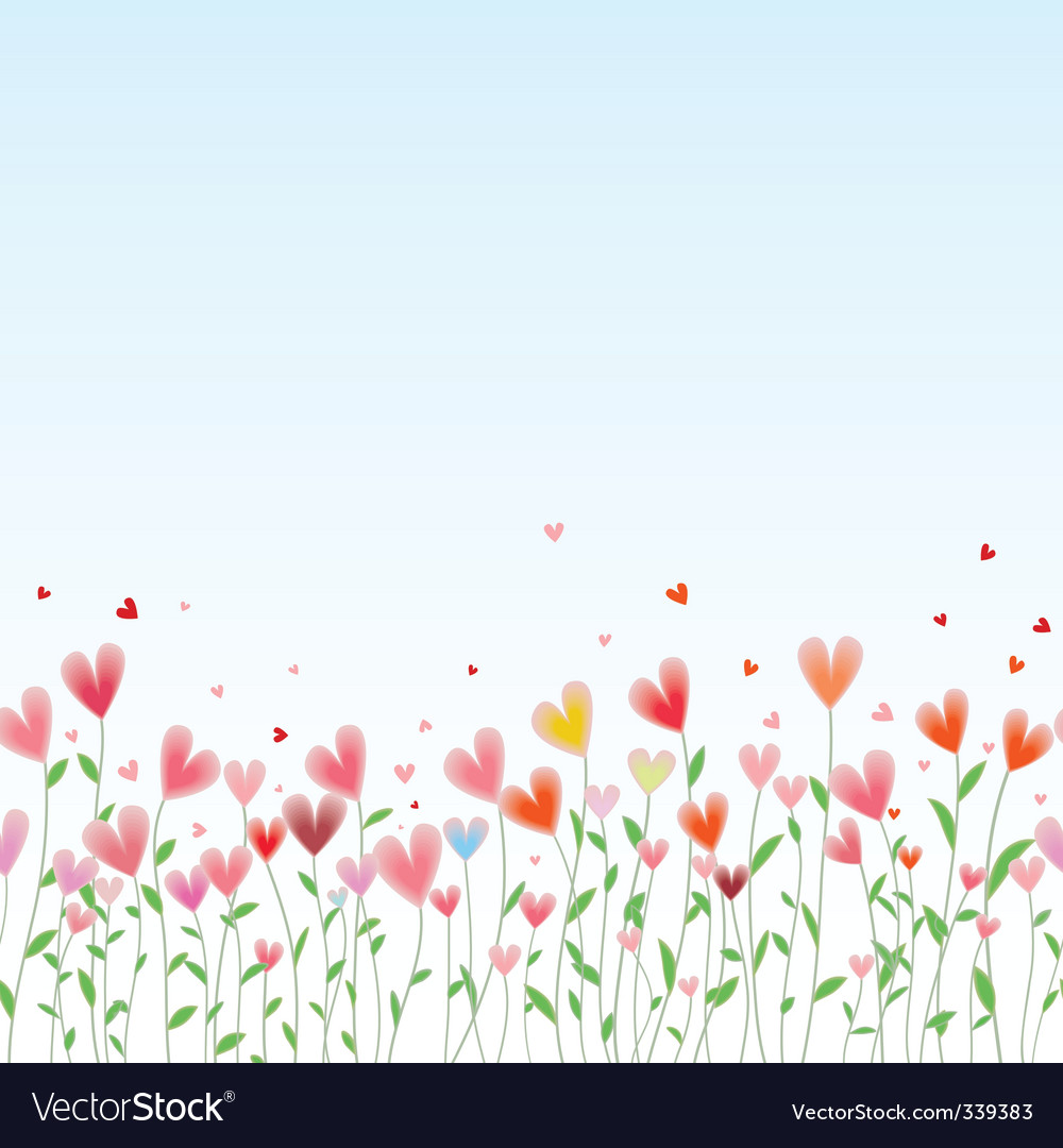 Valentines day horizontal seamless background