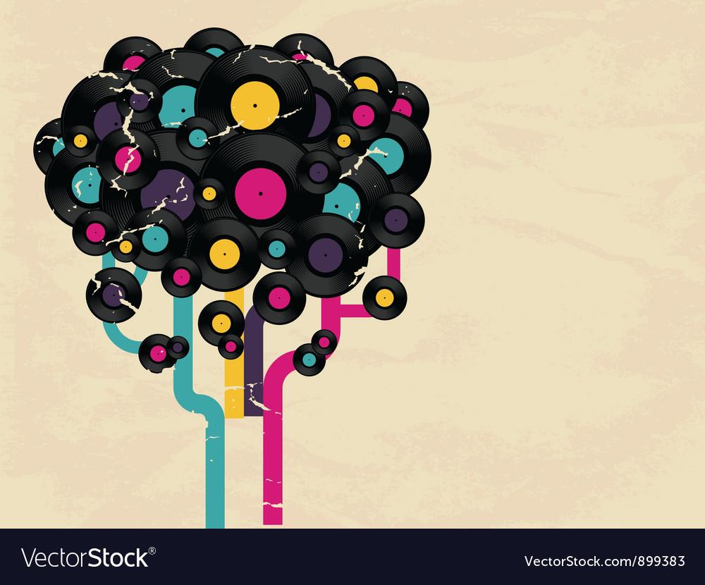 Vinyl record tree