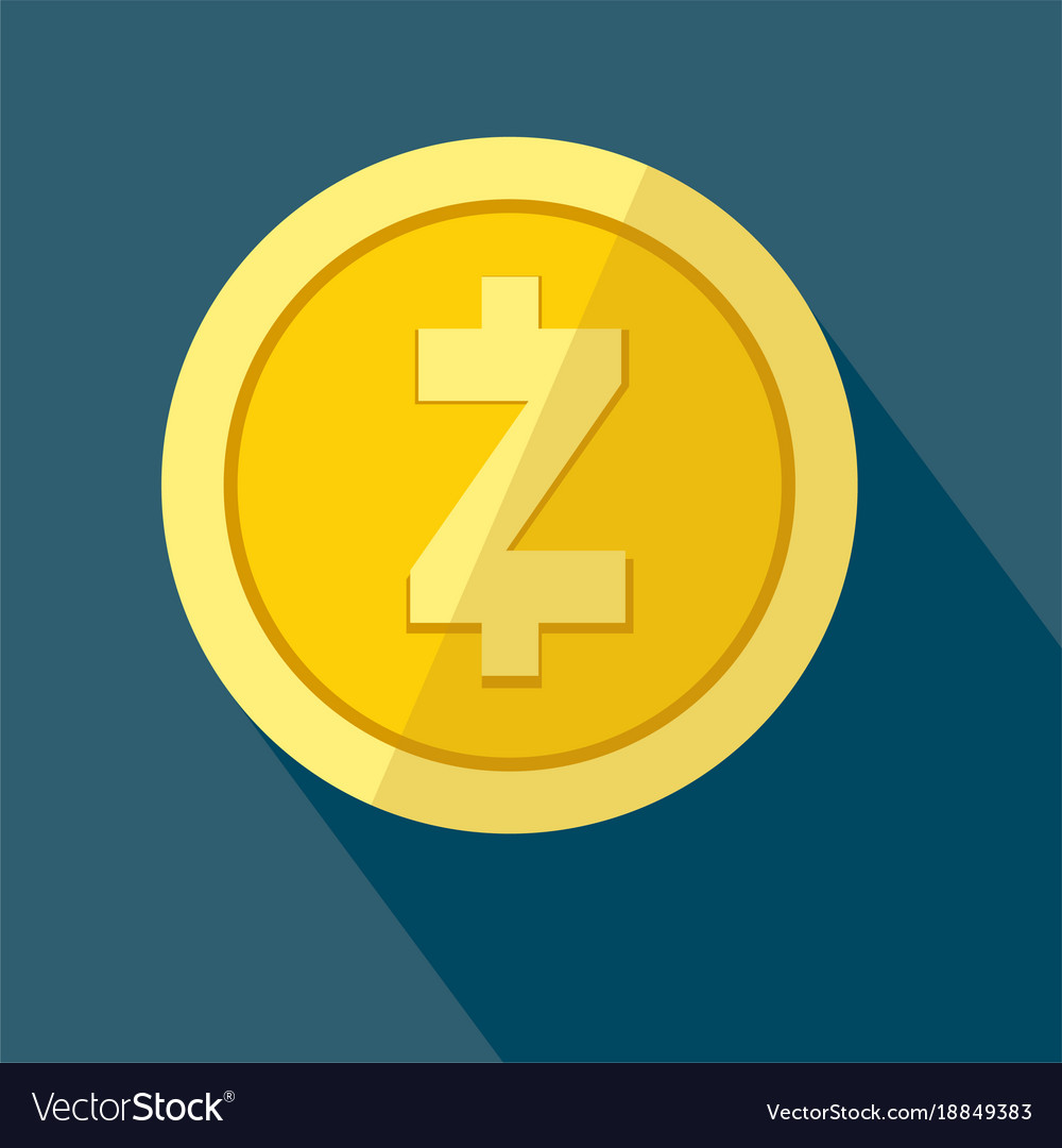Zcash Icon As Golden Coin Vector Image