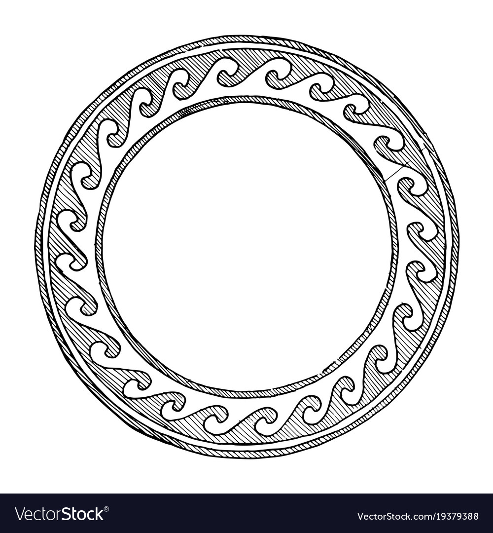 Ancient greek round ornament