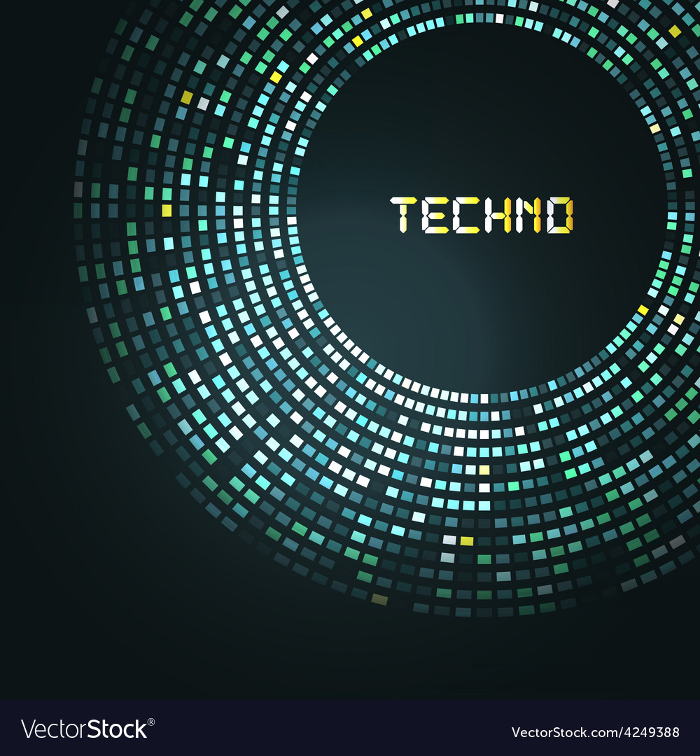 Blue technology round for your logo template Can