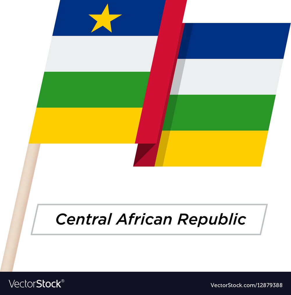 Central African Republic Ribbon Waving Flag vector image