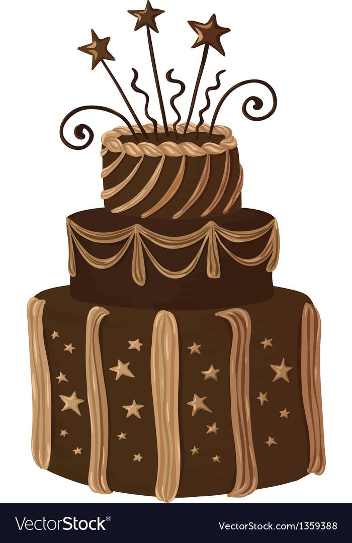 Hand drawn chocolate celebration cake