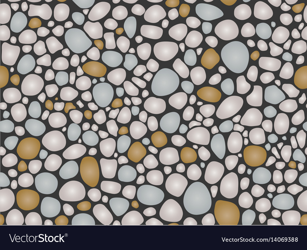 Pebbles pattern seamless vector image