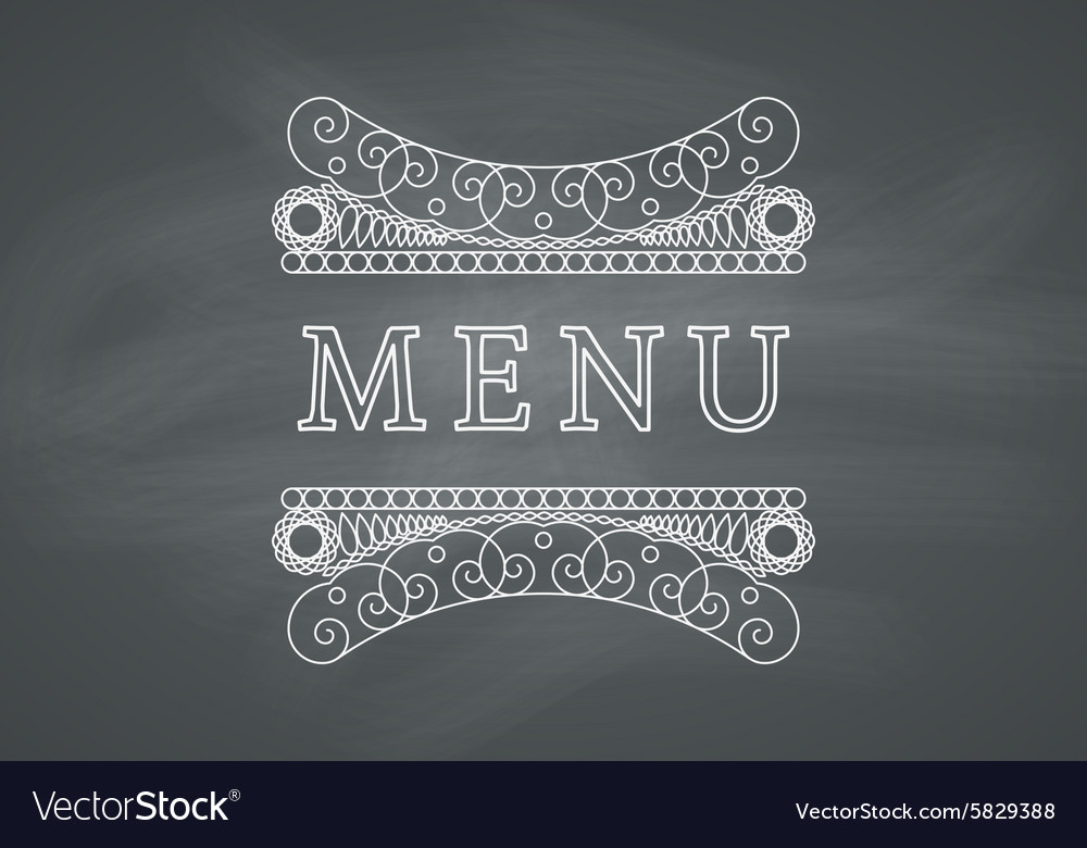 Restaurant Menu Headline with Chalkboard