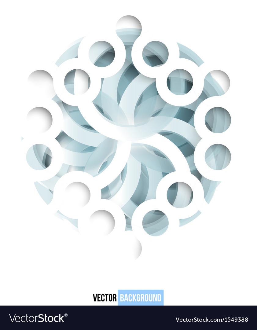 Swirl blue and white card