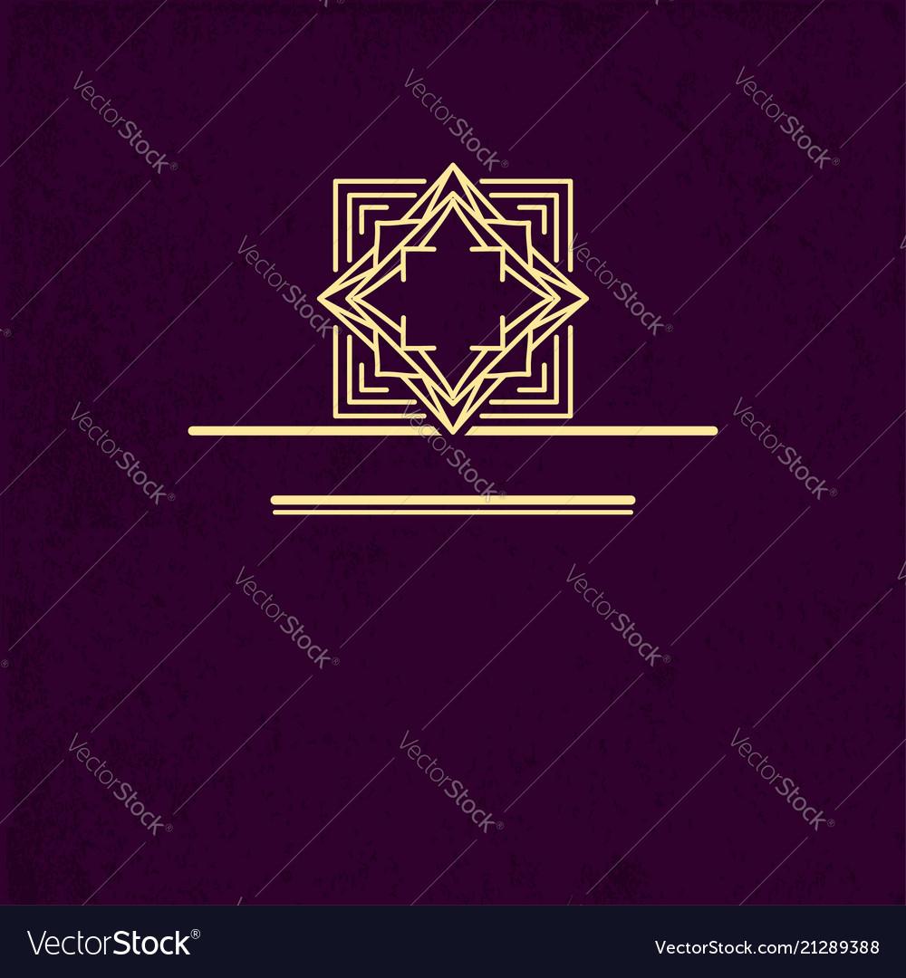 Vip logo design geometric linear monogram