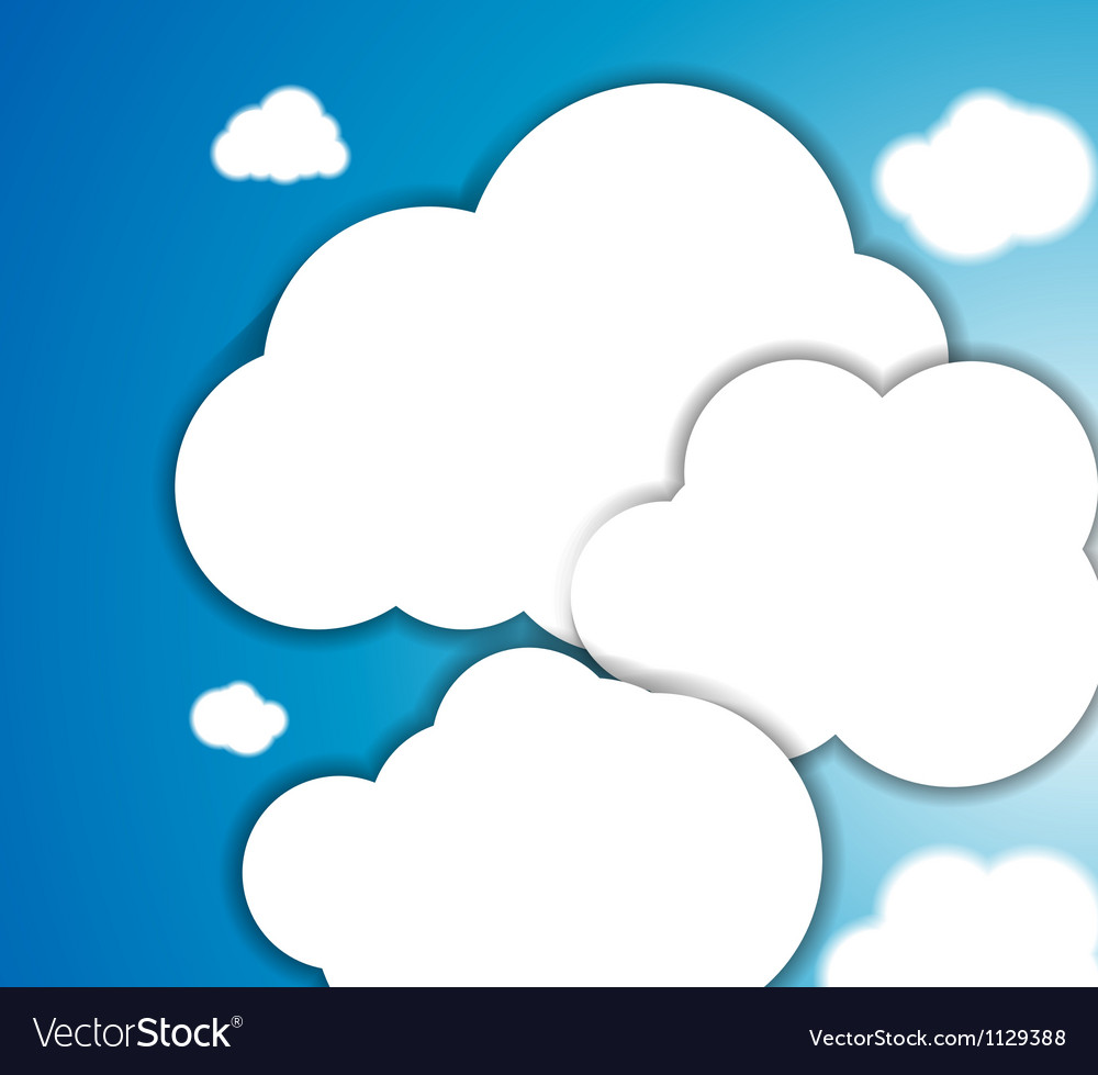 White clouds in the blue clear sky background
