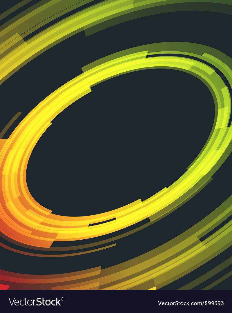 Abstract retro technology circles background