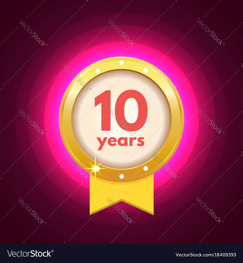 Anniversary ten logo