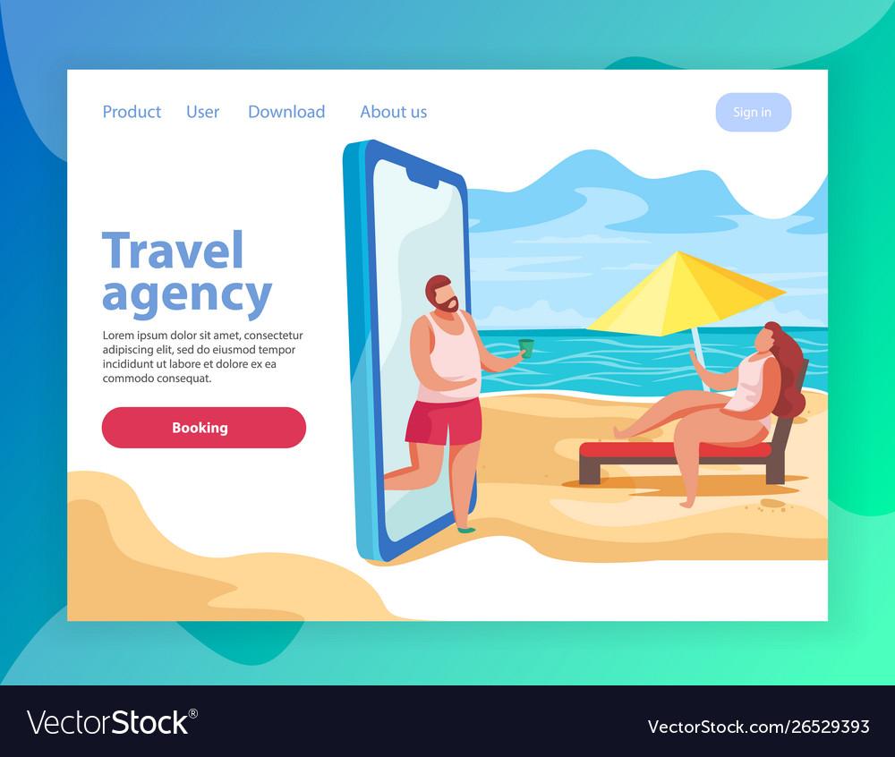 Beach relaxation travel website