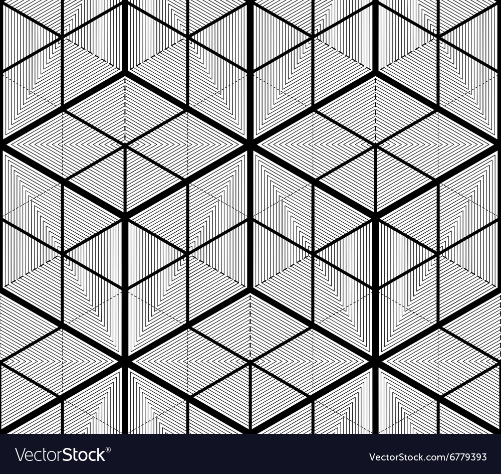 Continuous monochrome pattern decorative abstract