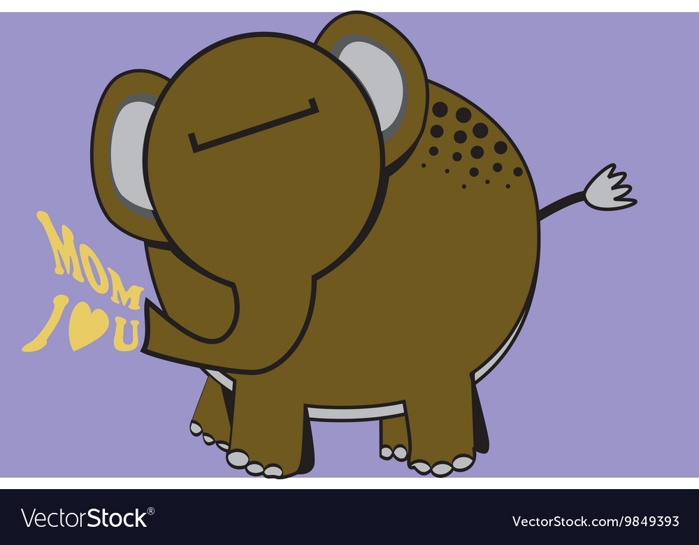 Funnyelephant vector image