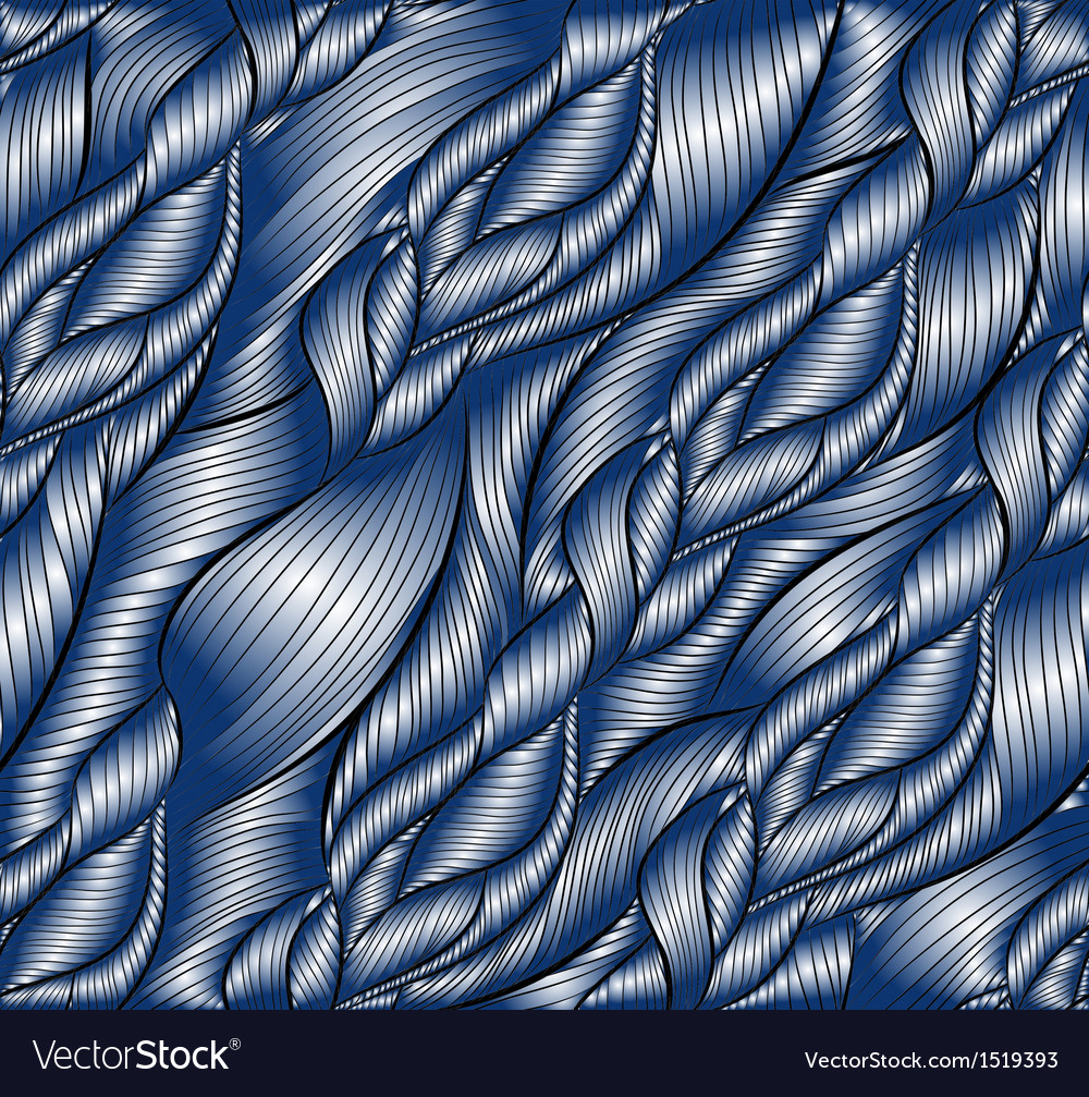 Hand-drawn pattern with waves