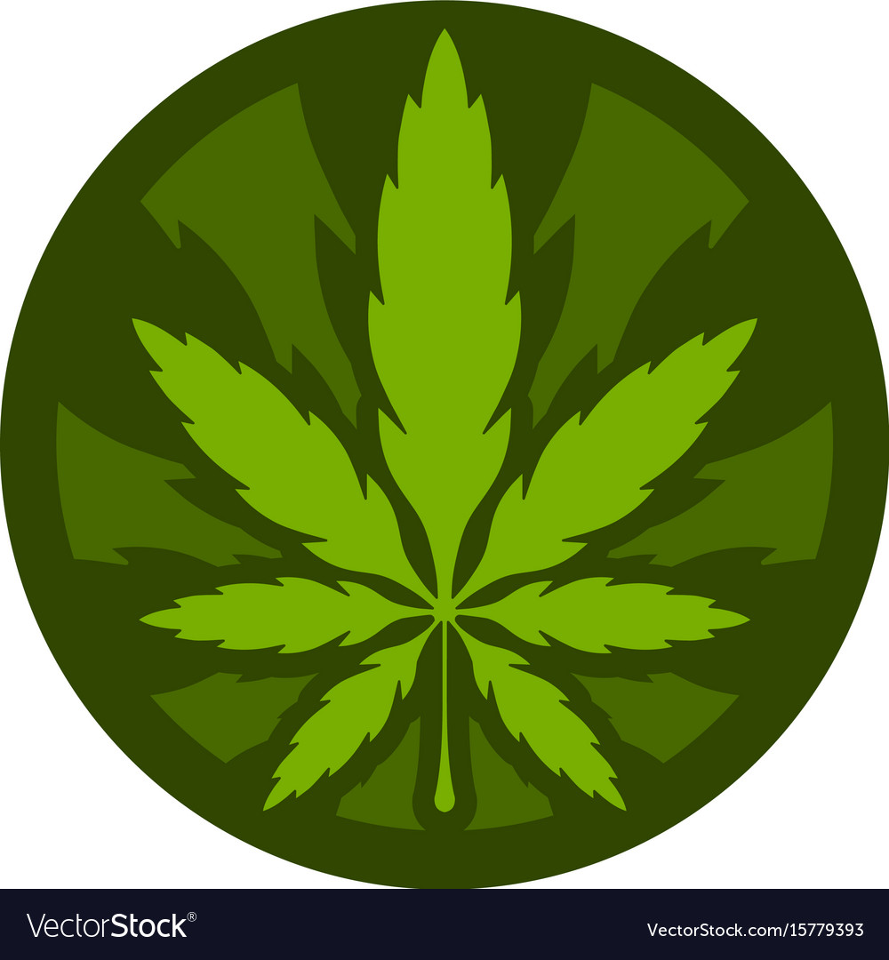 Marijuana pot weed leaf Royalty Free Vector Image