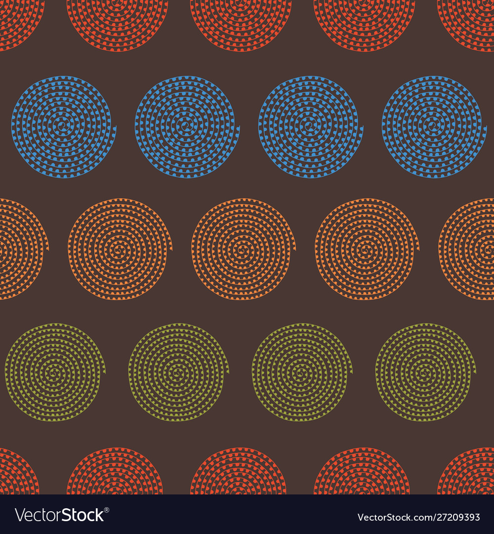 Multicolored spiral seamless pattern background in