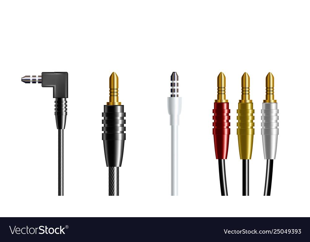 Realistic audio connector headphone plug