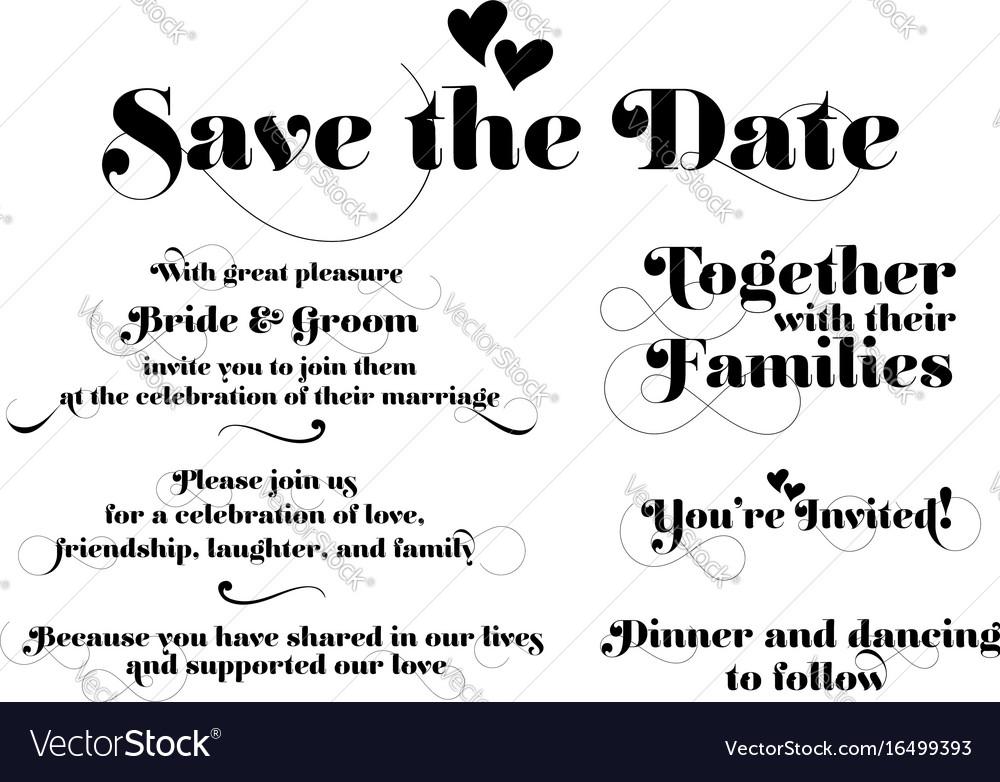 Wedding Invitation Wording Calligraphy