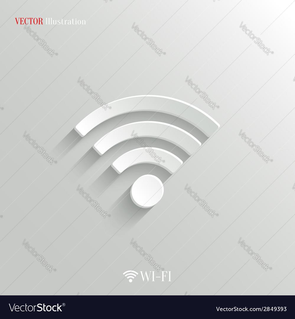 Wi-fi icon - white app button