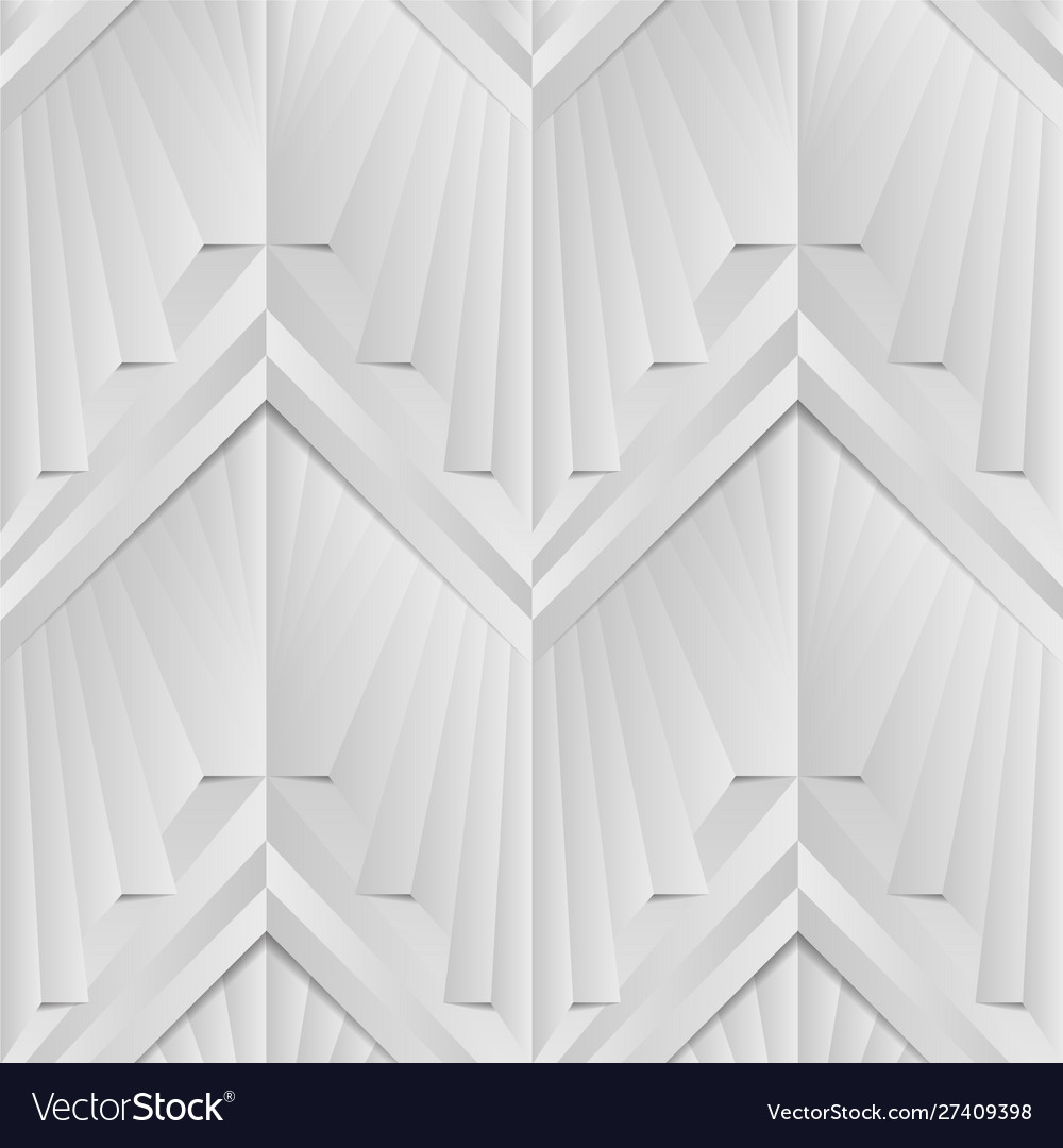 Abstract art deco geometric white and gray color