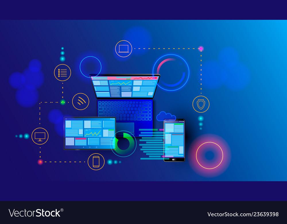 Creation responsive internet website for multiple
