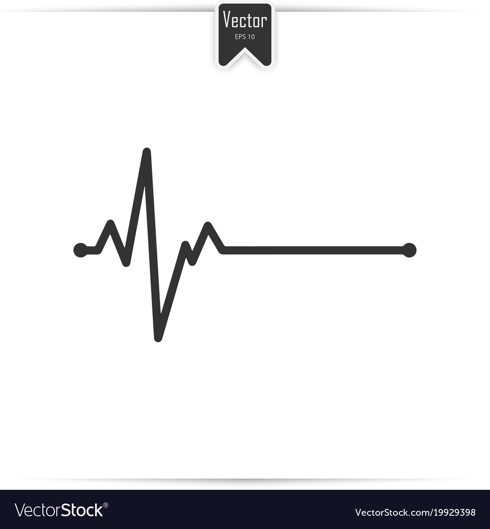 Electrocardiogram ecg - medical icon vector image