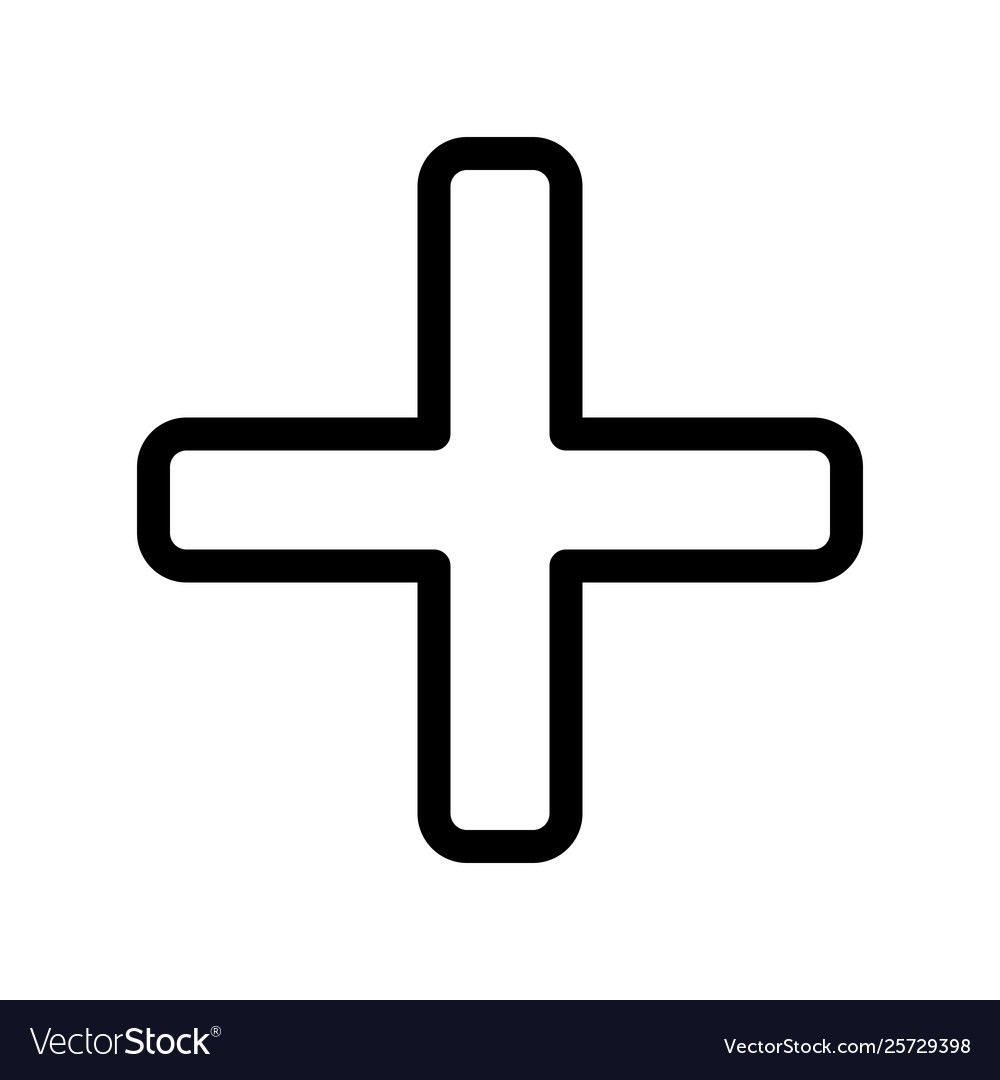 Emergency Cross Symbol For Healthcare And Safety Vector Image