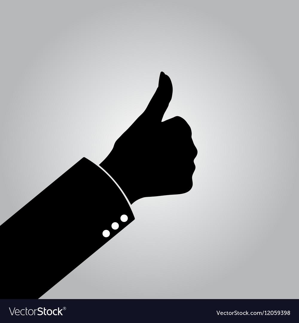 Gray good job icon