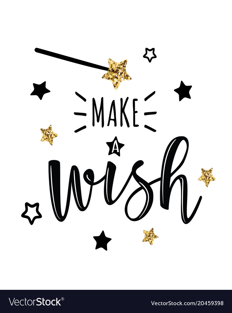 Greeting Card With Make A Wish Royalty Free Vector Image