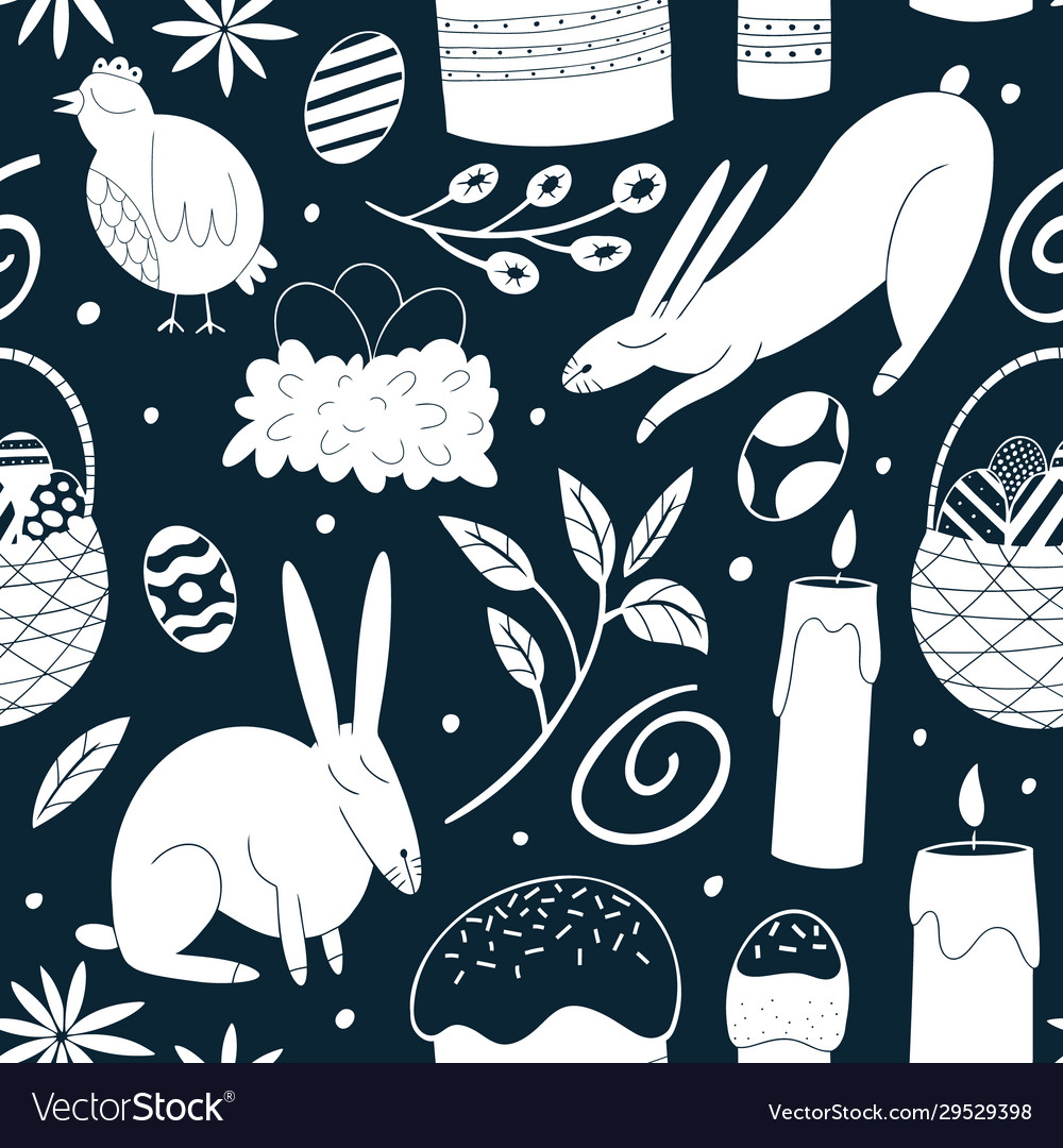 Happy easter seamless pattern spring holiday
