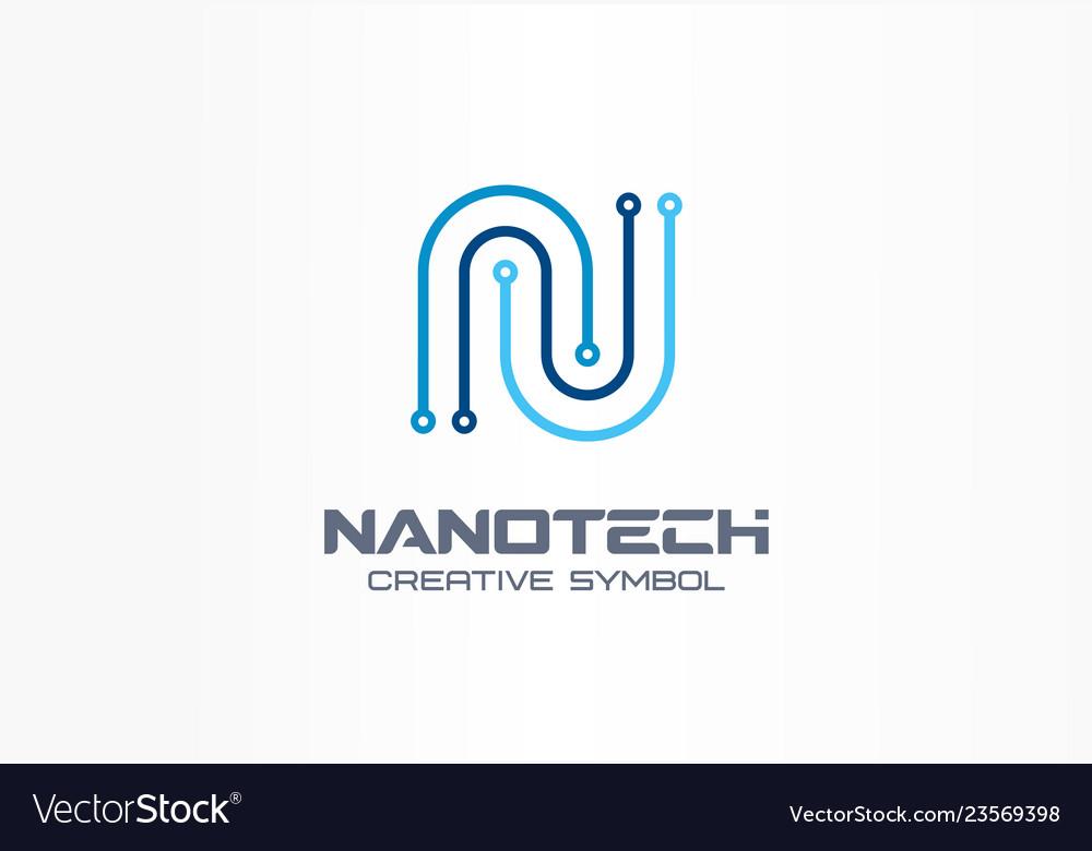 Nanotechnology creative symbol concept futuristic
