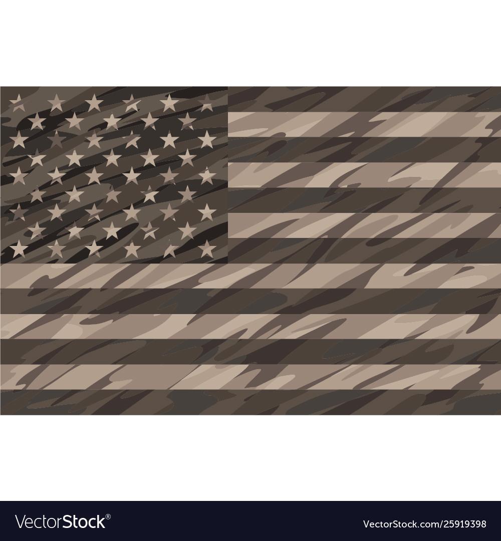 Patriotic desert tan camo usa flag