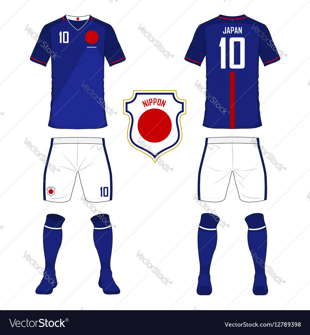77fc18be4 Soccer kit football jersey template for Japan Vector Image
