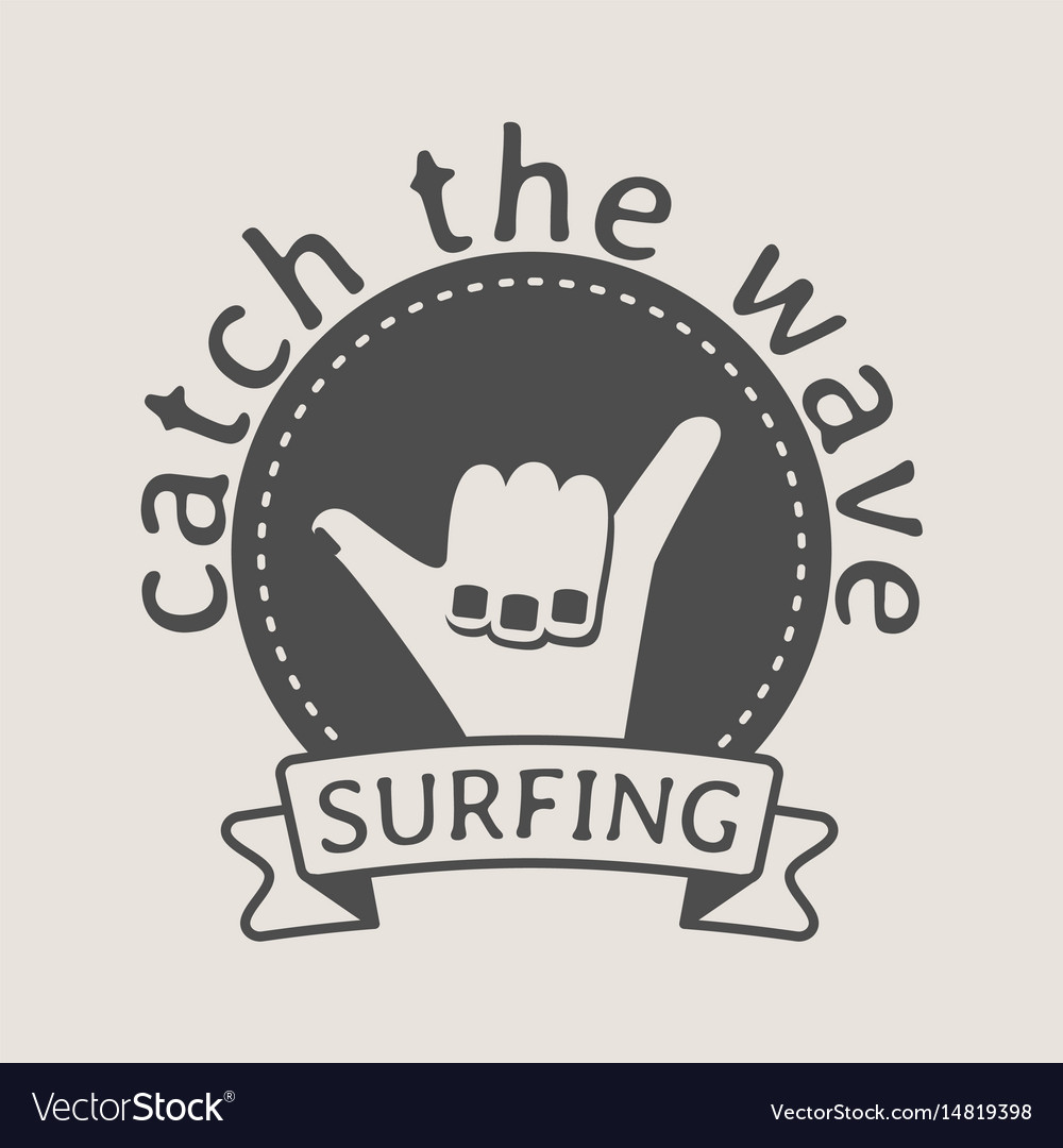 Surfing logo symbol or icon design template with