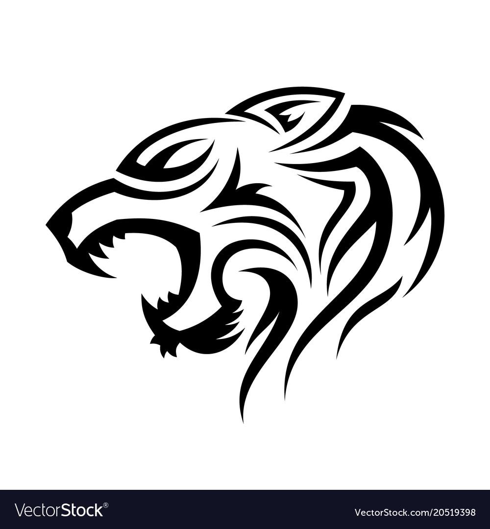 Tribal head tiger