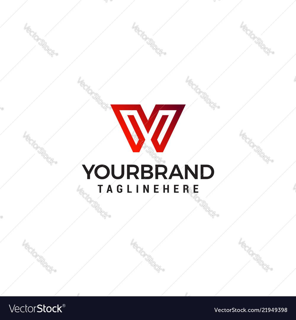 W v initial monogram symbol