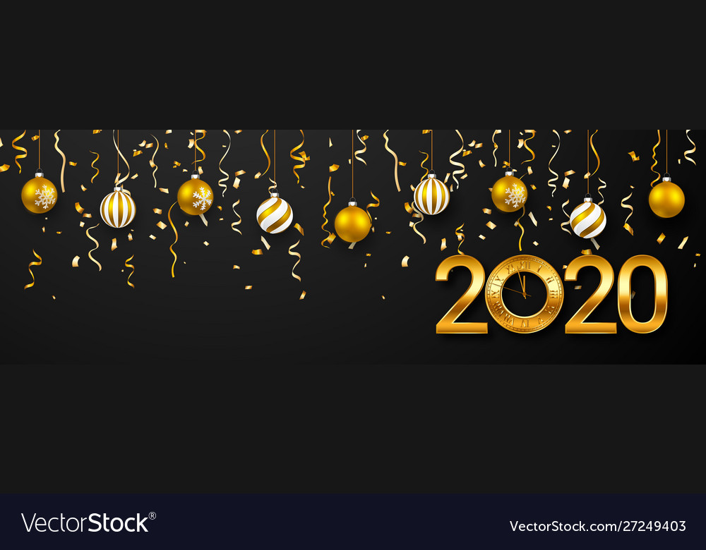 2020 new year greeting card christmas ball with