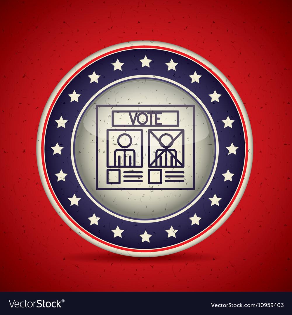 Card of vote inside button esign