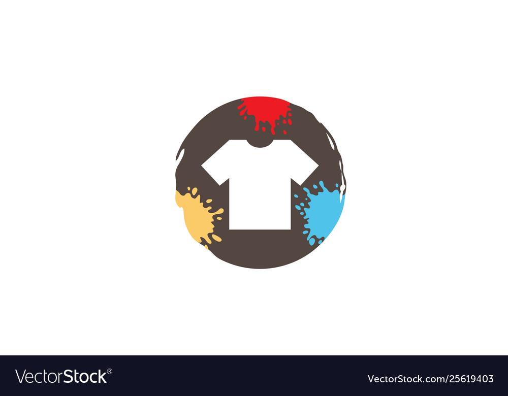 Creative colorful circle colorful tshirt logo