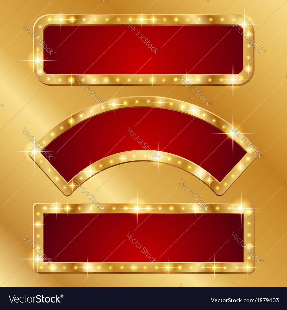 Flash banner gold vector image