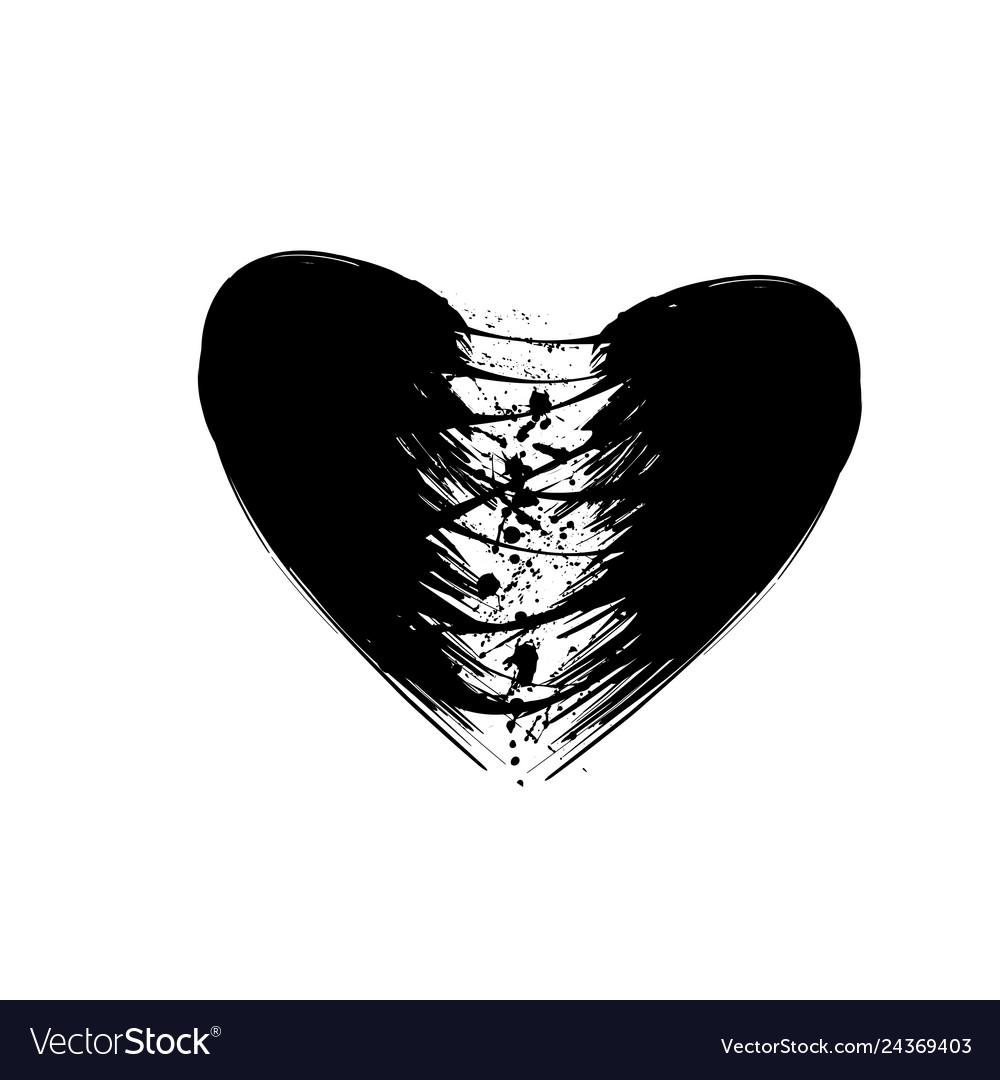 Grunge heart gap