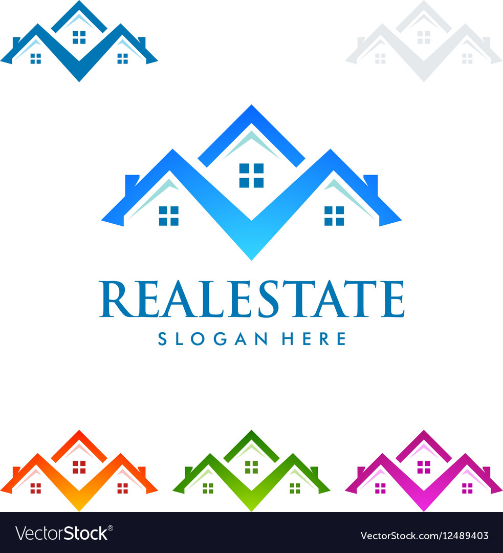Real estate logo design realty logo