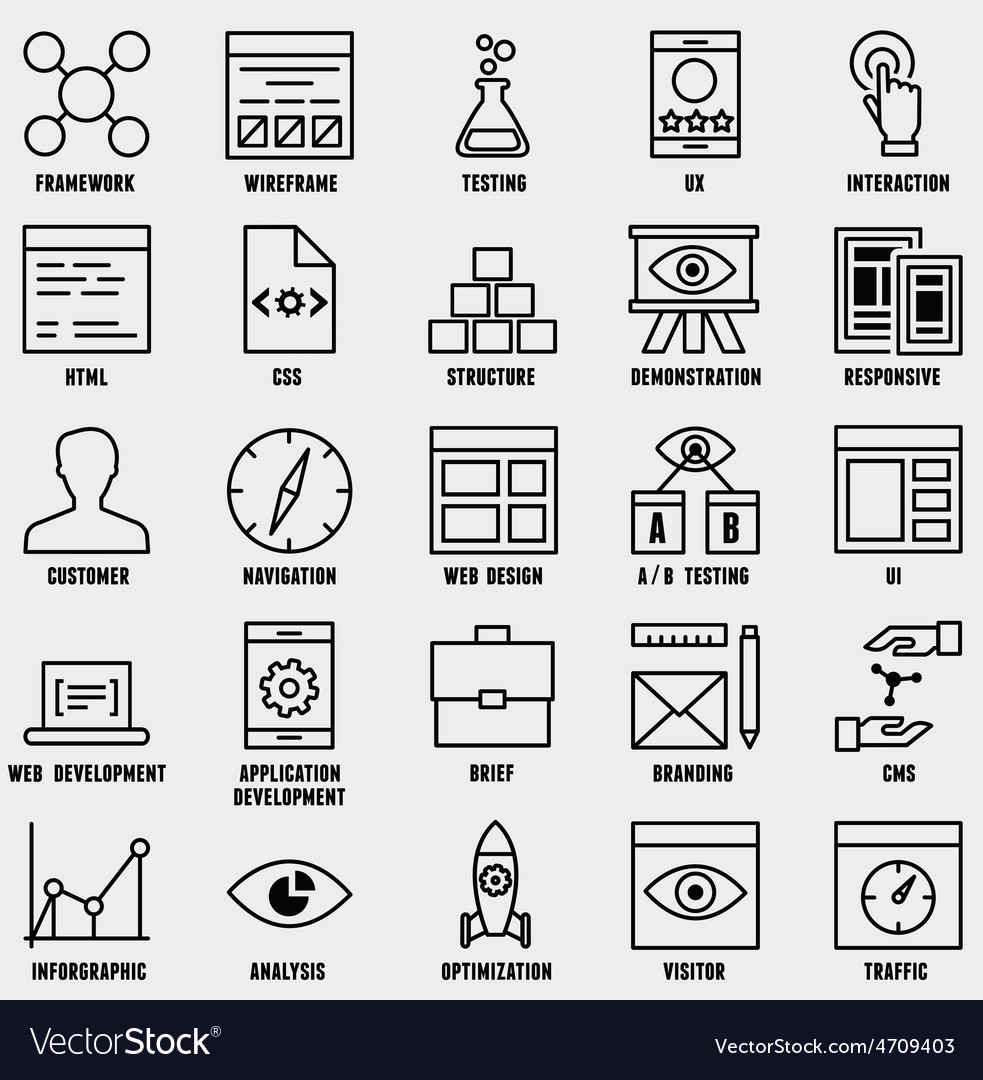 Set of seo and internet service icons - part 1