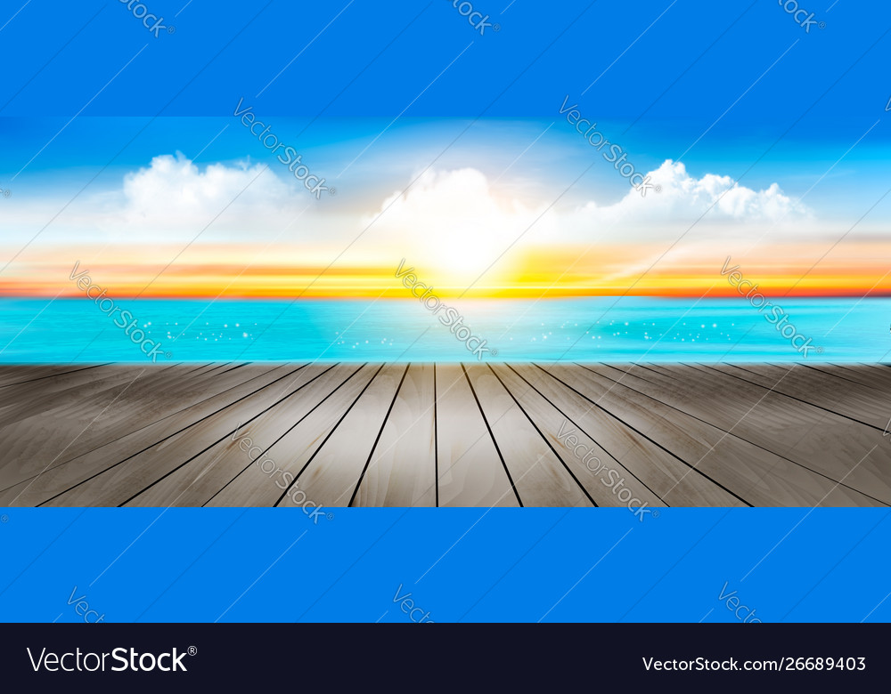 Summer vacation panorama tropical beach with a