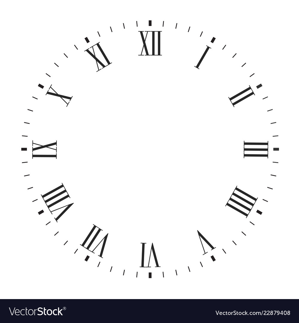 Clock Face Blank With Roman Numerals