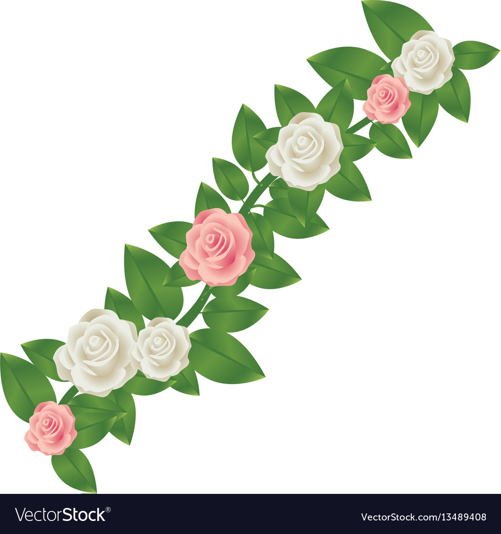 Colorful crown of leaves with roses floral design