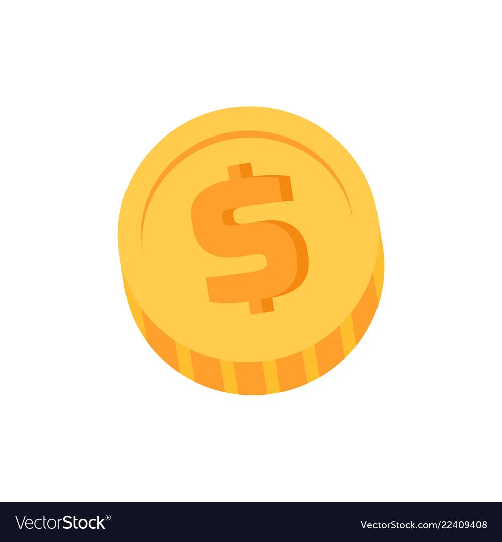 Golden dollar coin closeup